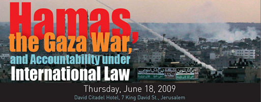 Conference: Hamas, the Gaza War, and Accountability under International Law